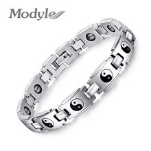Modyle Fashion Taiji health bracelets for men jewelry wholesale stainless steel watch bracelet jewelry with Magnetic(China)