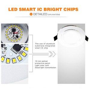 Image 4 - 10 pcs הרבה led downlight מנורת 3w 5w 7W 9w 12w 15w 18w 230V 110V תקרה שקוע downlights עגול led פנל אור משלוח חינם