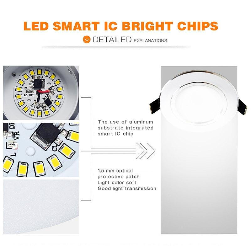 10 stück viel led downlight lampe 3 watt 5 watt 7 watt 9 watt 12 - Innenbeleuchtung - Foto 4