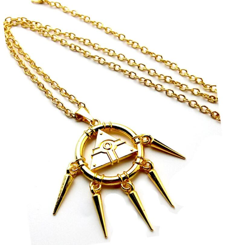Duel Monsters Ryo Millennium Puzzle Gold Wheel Wisdom Pendant Necklace Keychain Cosplay Jewelry Key Chain Curing Cough And Facilitating Expectoration And Relieving Hoarseness Costume Props Novelty & Special Use Yami Bakura Yu-gi-oh