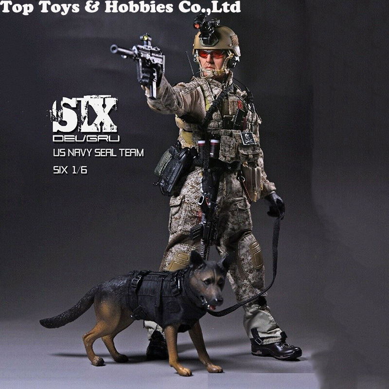 """Playhouse 1//6 Scale 12/"""" US Navy Seal Team Six Action Figure with Dog PH-005"""