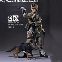 For collection full set soldier doll figure PLAYHOUSE PH 1/6 Soldier US Military Navy Seal Team 6 Double K9 w/dog Figure Toy цена