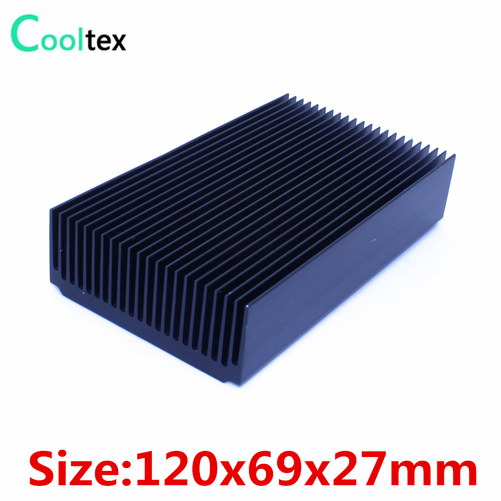 (5pcs/lot) High power 120x69x27mm radiator Aluminum heatsink Extruded  heat sink for Electronic heat dissipation 1 pcs aluminum radiator heat sink heatsink 60mm x 60mm x 10mm black