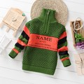 Fashion Spring Autumn Cotton Warm Sweater Boy Casual Zipper Collar 2-4Y Baby Boy Fall Knits Sweaters Children Clothing KC-1588