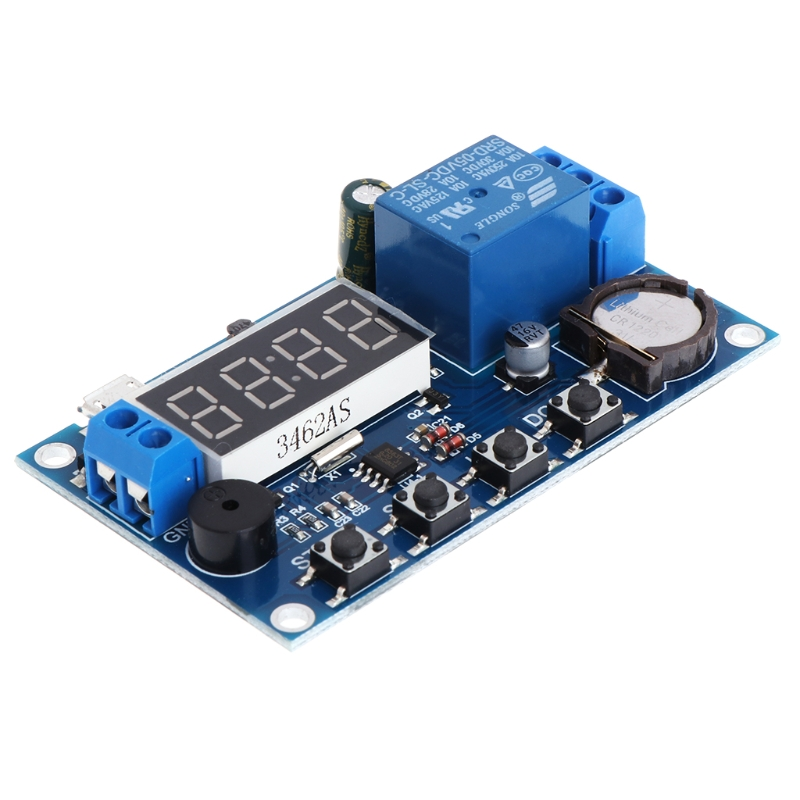 New Trigger Cycle Timer Delay Switch 12V 24V Relay Switch Module 24H Timing Control 12v led display digital programmable timer timing relay switch module stable performance self lock board