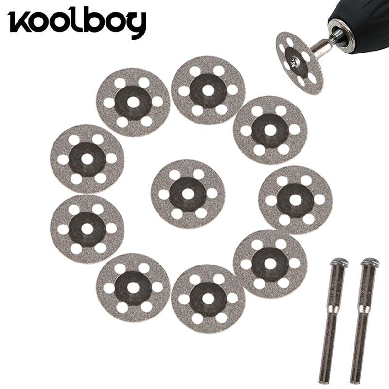 10PCS/lot 20/25mm Diamond Coated Saw Blade Rotary Cutting Cut Off Blade Wheels Disc Kits For Cutting Glass Stone plastic wood