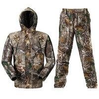 Дышащий бионический камуфляж охотничья одежда охотничий камуфляж для маскировки охотничья куртка брюки охотничий костюм охотничья унифор...