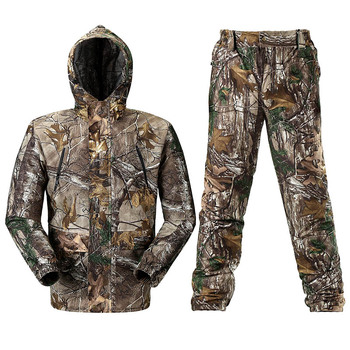 Breathable Bionic Camouflage Hunting Clothing  Hunting Ghillie Suit Camouflage Hunting Jacket Pants Hunting Suit Hunter Uniform breathable jungle bionic camo clothes wild hunting suits for hunter oem factory