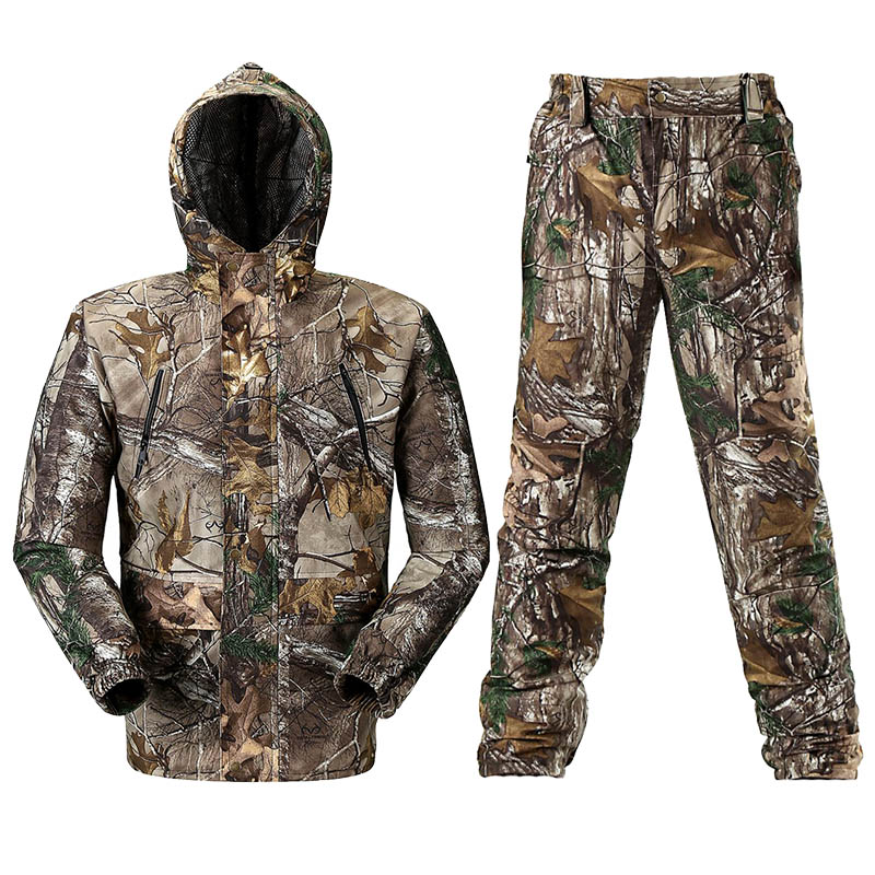 Respirável Biônico Caça Camuflagem Roupas de Caça Ghillie Terno Camuflagem Caça Calças Jaqueta Terno Caça Caçador Uniforme