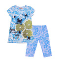 2017 fashion summer brand children clothing brand 2pcs  girls outfits sets short sleeve lemon shirts cotton pant clothes suits