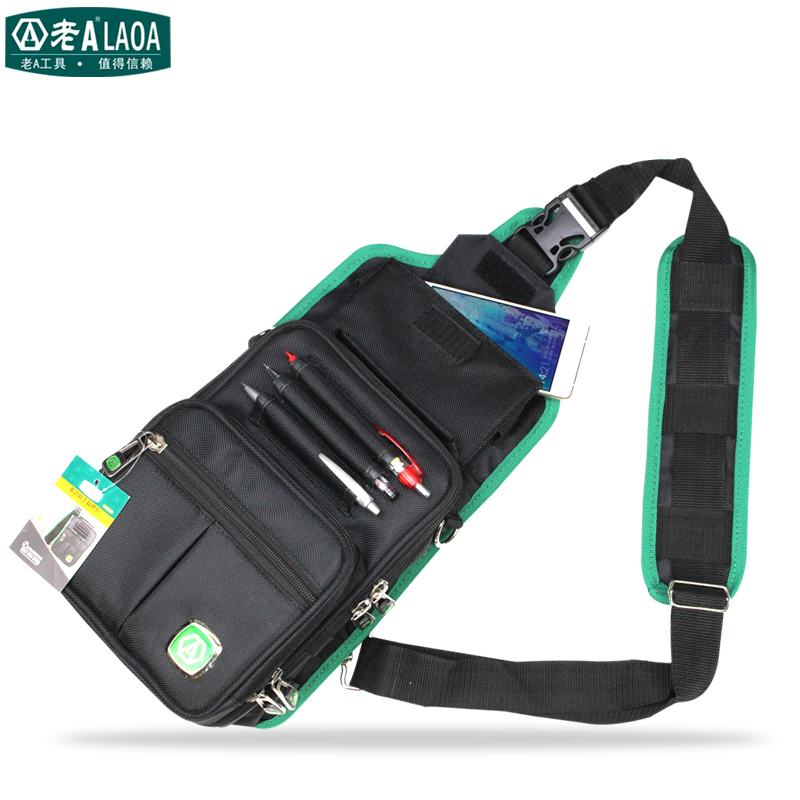 New LAOA Multifunction Messenger Bag Cross Body Electrician Hardware Mechanic's Canvas Tool Bags For Store Tools laoa shoulders backpack tool bag multiction oxford fabric electrician bags knapsack for eletricista tools storage