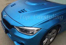 Aluminum blue  matte chrome Vinyl Wrap Car Wrapping Film For Car COVERING FOIL styling With Air Rlease PROTWRAPS 1.52x20m/Roll