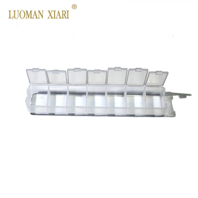 Wholesale Plastic Jewelry Fitting Box Transparent  DIY  15*150 Mm Packaging Accessories Box