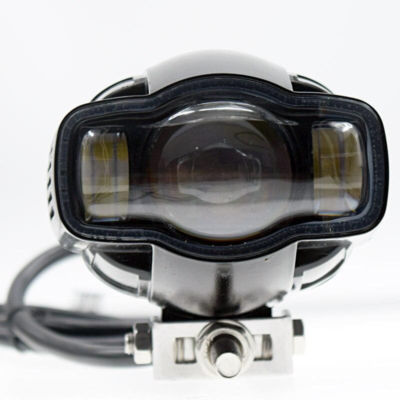 Universal Motorcycle Fog light 22 40mm IP65 LED Headlight lamp With USB Charger For Yamaha Kawasaki BMW Honda KTM Harley ATV UTV