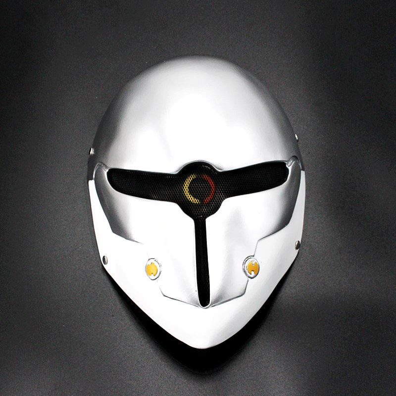 HOT Resin Game Metal Gear Solid Gray Fox Cosplay resin Mask Full Face Wire Mesh Airsoft