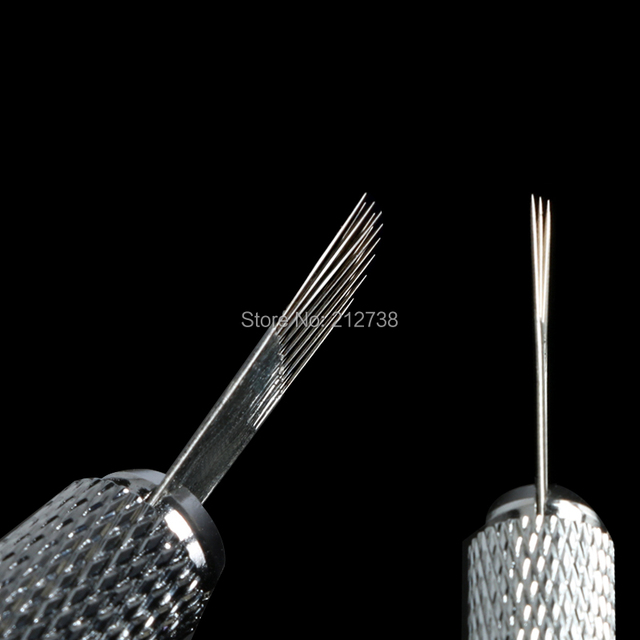 Newest  3 rows Line 18Pins Needle Permanent Eyebrow Makeup Needle Blades For 3D Microblading Pen Manual Embroidery-A0 1
