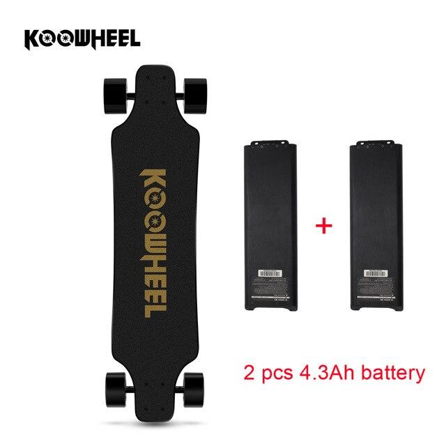 Koowheel 2nd génération électrique Longboard 4 roues auto équilibrage Scooters Smart Longboard remplaçable double moteur Hoverboard Skate