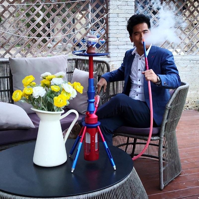 shisha smoking pipe for hookah lounge and shisha bar narguile hookah set 3 hoses shisha complete chicha