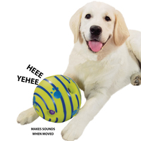 Pet Chew Toy Big Squeak Dogs Toy Ball Supplies Outdoor Dog Toy Training Solid Natural Rubber Elastic Ball Bite Resistant