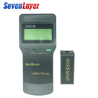 SC8108 Portable LCD Network Tester Meter&LAN Phone Cable Tester & Meter With LCD Display RJ45