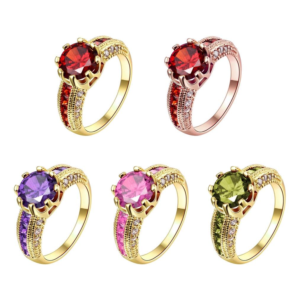 Cincin pertunangan, Cincin zirkonia kubik, Mewah merah perhiasan, - Perhiasan fashion - Foto 2