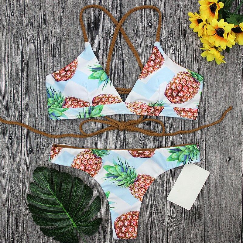 где купить Set halter top beach bathing suits colorful push up bikini teenage girls beachwear women's swimsuit sexy female swimwear ladies по лучшей цене