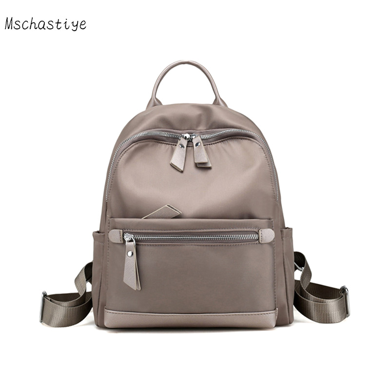 Mschastiye 2018 new arrival Women Casual Backpack Women Oxford Backpacks Black/light gray/ Purple/blue Solid color Backpacks free shipping real photo 2017 pu students backpack cheap women backpacks black deep blue red color my022