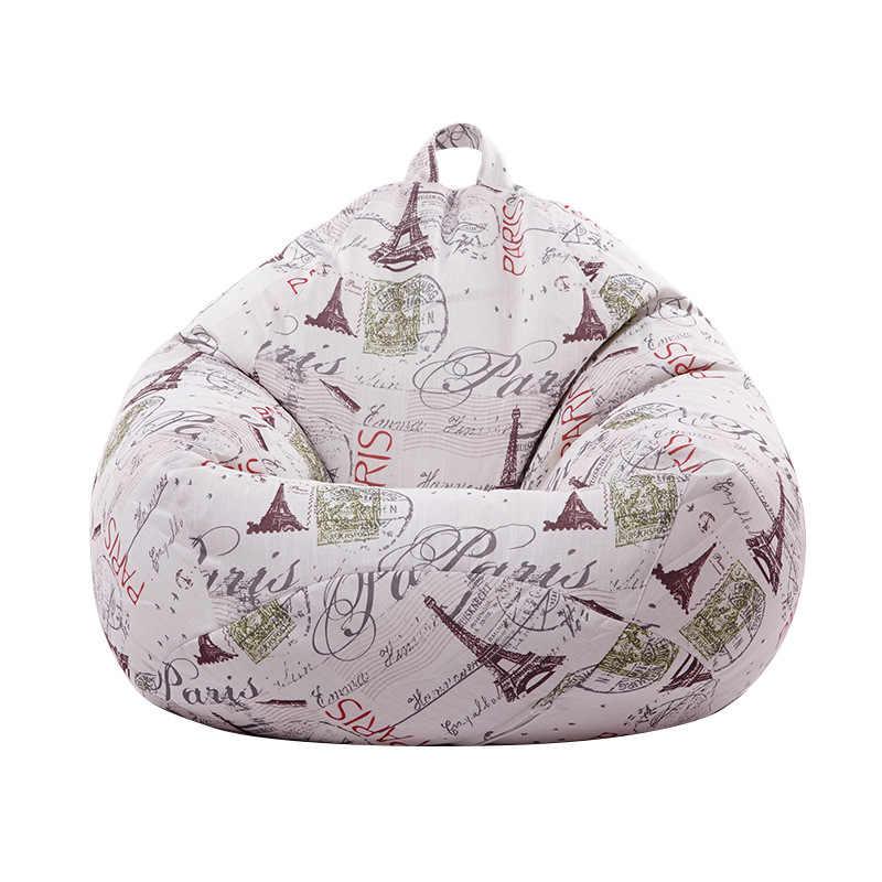 EPS Espuma Preenchido Impresso Cama Lounge Cadeiras do Saco de Feijão Sofá Pufe Puff Sofá Preguiçoso Sofás BeanBag Espreguiçadeira Mobiliário de Assento Tatami conforto