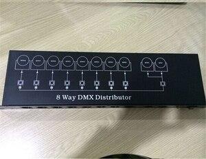 Image 2 - จัดส่งฟรีที่ดีที่สุดคุณภาพ8CH DMX Splitter DMX512แสงเวทีไฟสัญญาณSplitter 8 DMXจำหน่าย