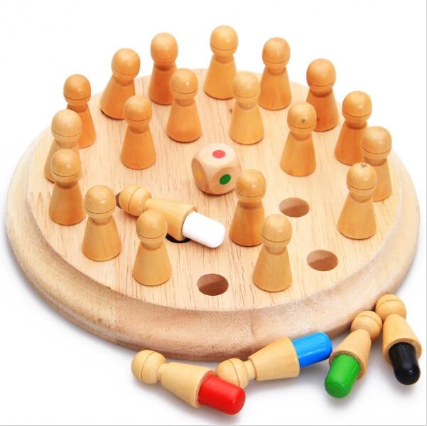 Детские развивающие игрушки Игрушки Деревянные памяти шахматы деревянные игрушечный поезд ребенка памяти Матч Палку Шахматы Развивающие Игрушки Подарок