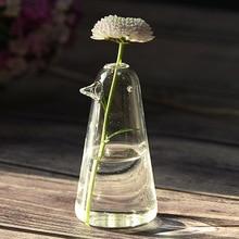 Прекрасная птица стеклянная ваза для цветов гидропонный контейнер креативные стеклянные украшения для дома пасторальные стеклянные артвари