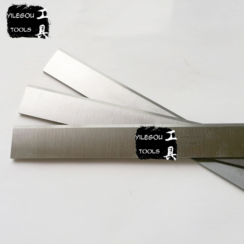 4 Pieces HSS Electric Planer Blades 3*30*400mm W4 High-speed Steel Planer Blades 400mm Length Woodworking Planer Saw Blades