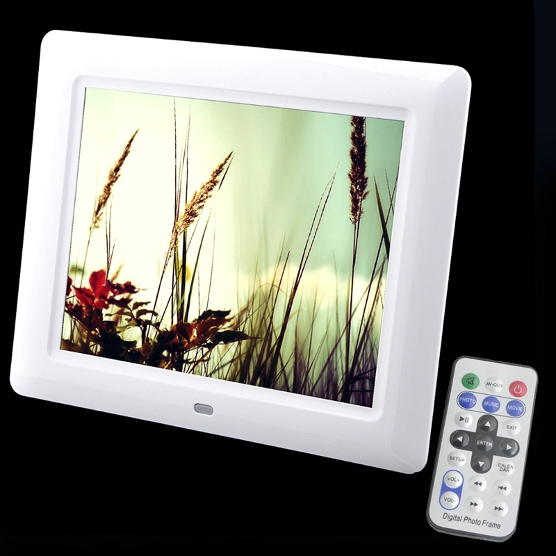 8 Inch Photo Frame Digital 800*600 HD Electronic Picture Support Digital Signage Player and Digitization Clock Calendar Desktop