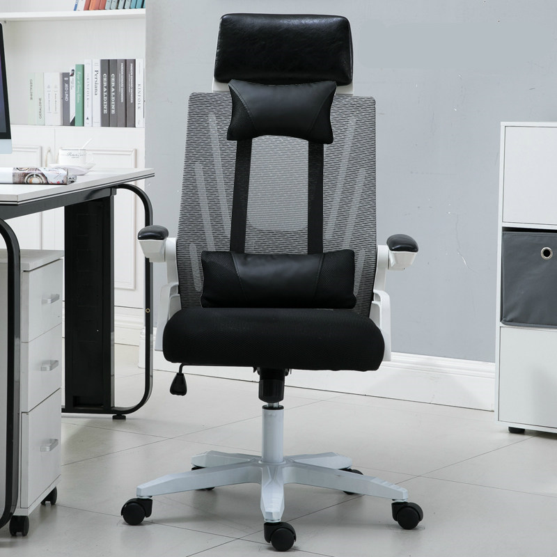 Simple Style Office Reclining Chair Lifted Mesh Cloth Breathable Household Computer Chair Multi-function Gaming Swivel Chair