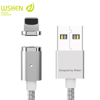 WSKEN Mini 2 USB Charger Cable For iPhone Cable USB Magnetic Charger Mobile Phone Cables For iPad USB Cable With LED Light