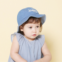 Wholesale Retail Baby Hat 1Pcs 2016 Children Bucket Hat Cotton Denim Crown Summer Boys Girls Fisherman