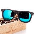 Pájaro bobo new desgin hombres gafas de sol de madera originales sunglasse lente polarizada gafas de sol ocasionales para los hombres con la caja de regalo de madera 2017