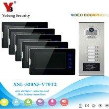 YobangSecurity Video Intercom 7 Inch Video Door Phone Home Doorbell Intercom System RFID Access Door Camera