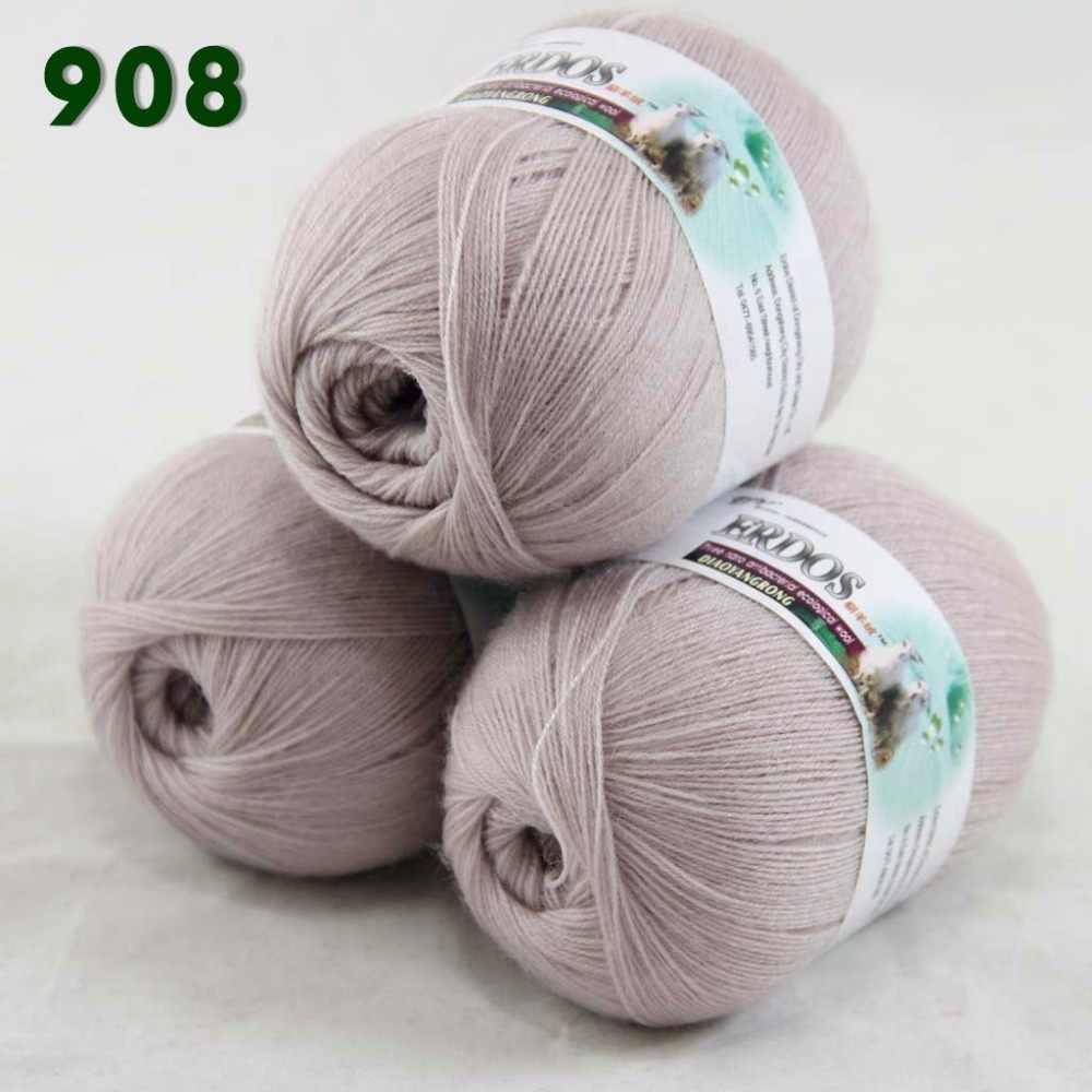 Vente 1 balle 50 g dentelle acrylique laine cachemire Main Tricot Châle Fil 901 Blanc