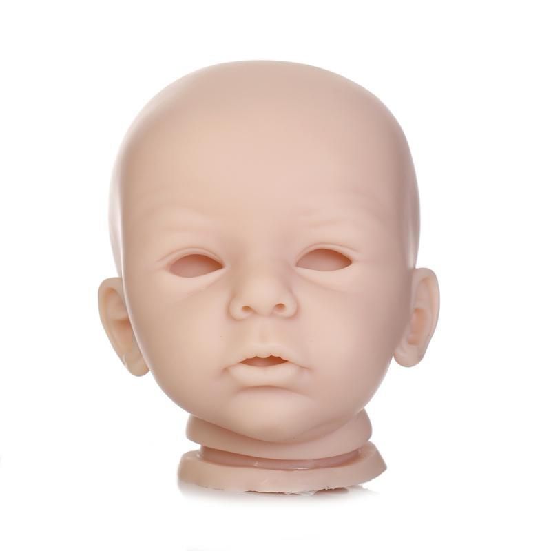 DK1717 Hot Sale Doll Kit DIY Blank Kit Soft Vinyl Reborn Doll Kit Free Shipping Unisex Doll Accessories with 3/4 Limbs цена и фото