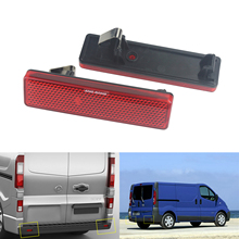 ANGRONG 2x Red Rear Bumper Reflector For Opel Vauxhall Vivaro Movano A Renault Master Trafic renault trafic