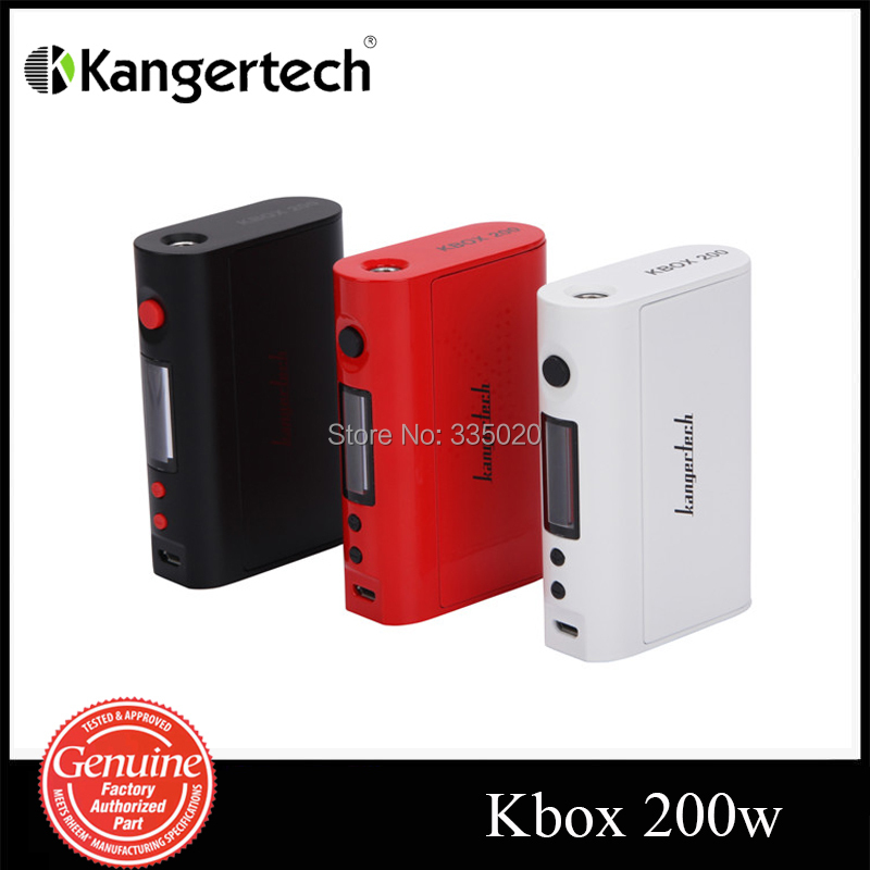 Original Kanger KBOX 200W Mod Temperature Control Variable Wattage Box Mod suit for 18650 Battery  KBOX 200W  in stock