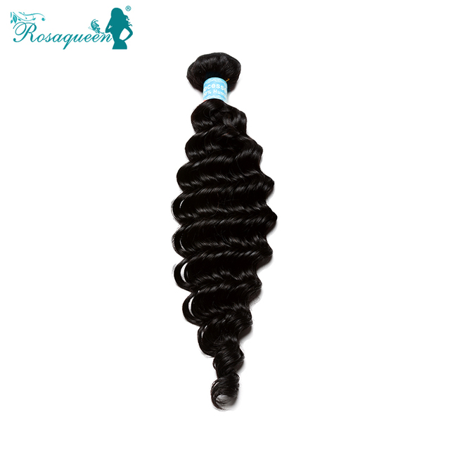 6A Grade Malaysian Virgin Hair Deep Wave 1Pc Lot Malaysian Deep Curly Hair Human Hair Weave Bundles Rosa Queen Hair Products