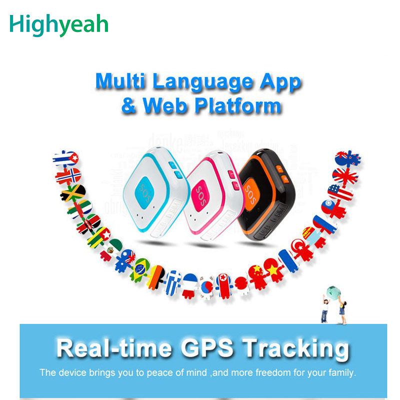 Mini Personal Kids Child GSM GPRS GPS Tracker RF-V28 SOS Button Alarm Mirco Portable Free APP Web Tracking GPS Locator Pendant