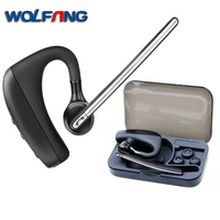 WOFANG K10B Bluetooth Headset Handsfree Wireless Car Earphone Noise Canceling HD Microphone Headphone Gift Carrying Box