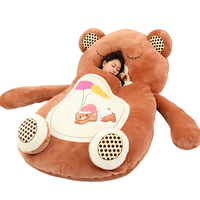 Dorimytrader Giant Cartoon Sleeping Bag Soft Plush Animals Beanbag Frog Bear Monkey Cat Bed Carpet Tatami Sofa Mat DY60497