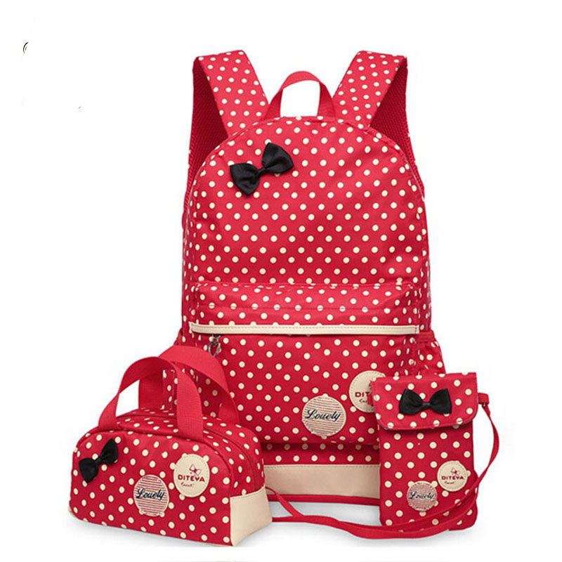 Backpacks School Bags For Teenagers girls backpack set women shoulder travel bags 3 Pcs/Set rucksack mochila book bags LM3582mf купить