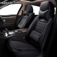 KADULEE housses de siège de voiture en cuir, couvre siège pour véhicule, pour skoda octavia a5 rs 2 a7 rs superbe 2 3 kodiaq fabia 3 yeti