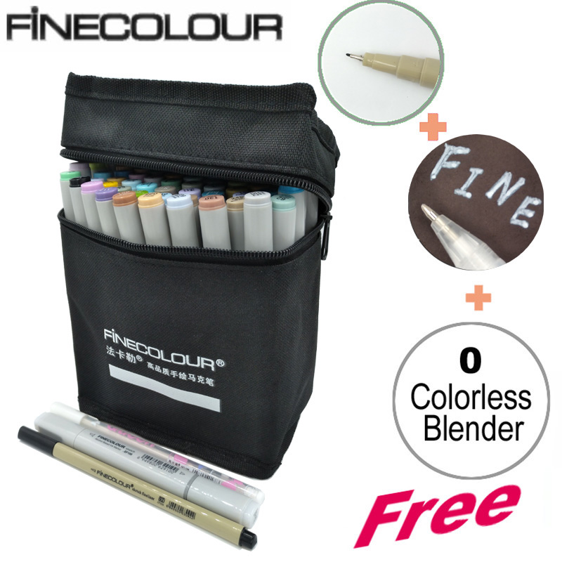Finecolour Fashion Design Markers Alcohol Ink 36 48 60 72 Colors Art Marker Drawing Rotulador Marker touchnew 60 colors artist dual head sketch markers for manga marker school drawing marker pen design supplies 5type