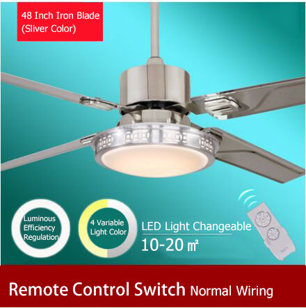 Led Ceiling Fan Light With Remote Control Switch Luminous Efficiency Regulation And 4 Variable Color Free Shipping